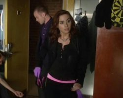 Warehouse 13 Claudia Allison Scagliotti Worn Alice and Olivia Jacket Ep 504