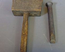 Warehouse 13 Screen Used Auguste Rodin Hammer And Chisel Artifact Prop Set 418