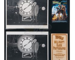 Back To The Future 3 – Doc and Marty Clock Photographs