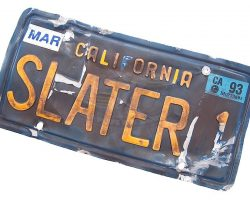 Last Action Hero – Jack Slaters License Plate (Arnold Schwarzenegger)