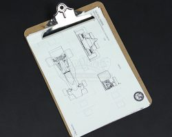 RUSH – Wooden Clipboard with Raceday Paperwork