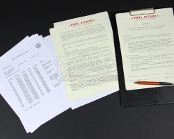 RUSH – Assorted BRM Paperwork for Paul Ricard Circuit with Clipboard and Pen