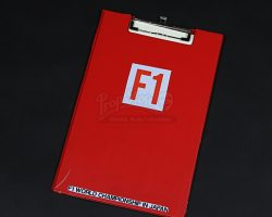 RUSH – Japanese Grand Prix Red Clipboard with Race Day Paperwork