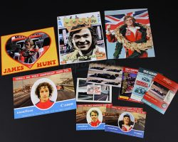 RUSH – Assorted Hunt and Lauda Autograph Postcards and Photos