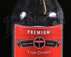 RUSH – Empty Glass Bottle of Saburov Vodka