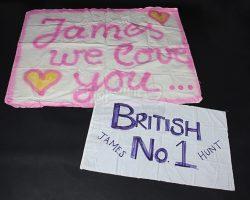 RUSH – James Hunt Fan Homemade Banners