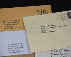 RUSH – Edward Mayer (Colin Stinton) Letters
