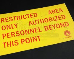 28 Weeks Later District One Restricted Area Sign