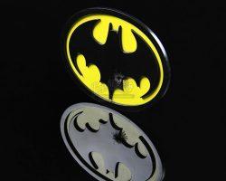 Batman's (Michael Keaton) Hero Bullet Hit Bat Emblem BATMAN
