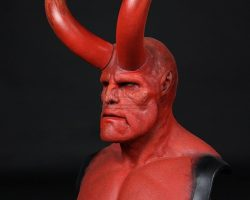 Hellboy (Ron Perlman) Facial Appliance, Horns & Lifecast HELLBOY