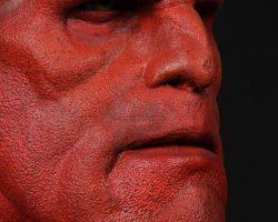 Hellboy (Ron Perlman) Facial Appliance, Horns & Lifecast HELLBOY
