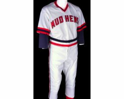"""Reed Thompson """"Young Billy Beane"""" Toledo Mud Hens baseball uniform from Moneyball"""