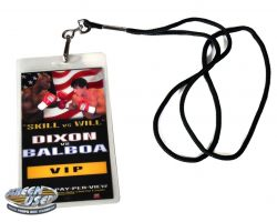 Prop ringside VIP badge from Rocky Balboa