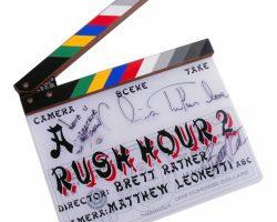 Jackie Chan, Chris Tucker & Brett Ratner signed clapperboard from Rush Hour 2