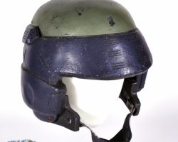 Custom-made combat helmet from Starship Troopers
