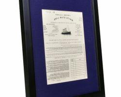 Prop Third Class passengers ticket from Titanic