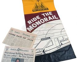 Lois & Clark (television) – Prop Newspapers & Banner